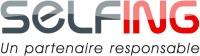 Logo dégradé slogan gris